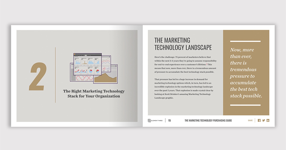 illustrated spread of marketing technology ebook