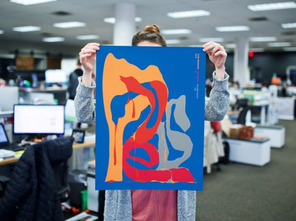 Girl Holding Multicolored Fuse Poster