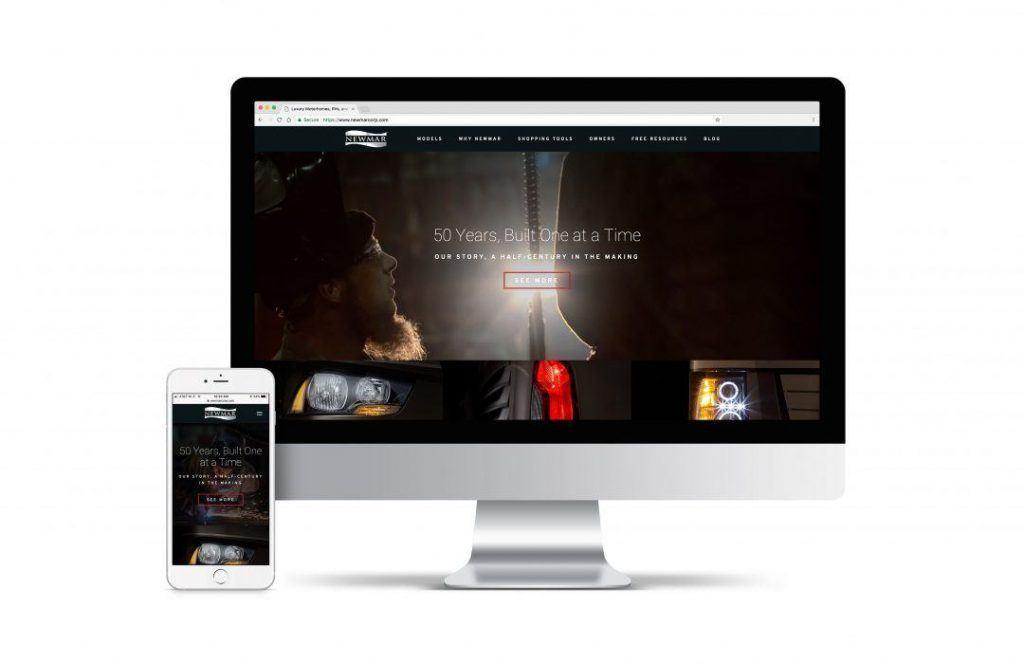 Newmar Website Mockup