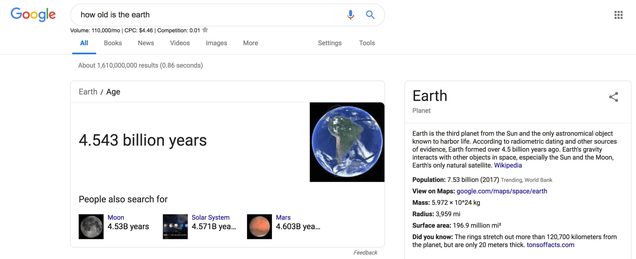 rich answer showing how old the earth is