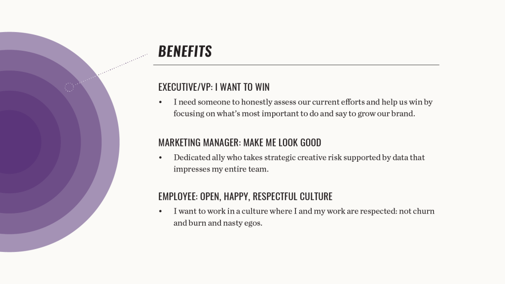 Element Three Benefits Chart