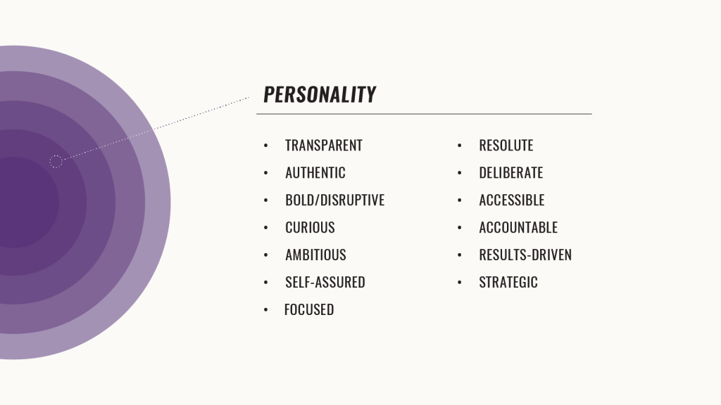 list of personality traits