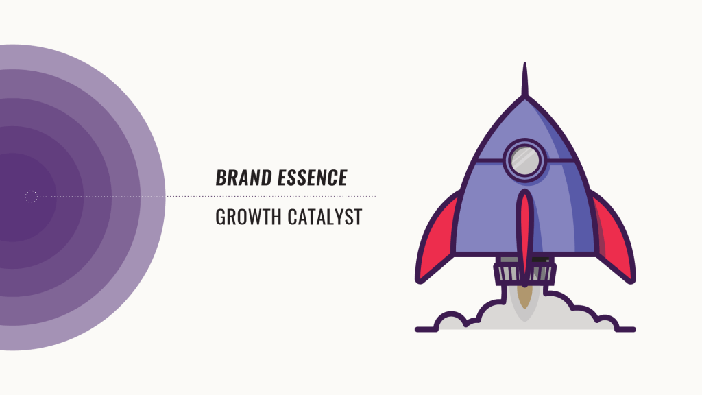 Brand essence rocket logo