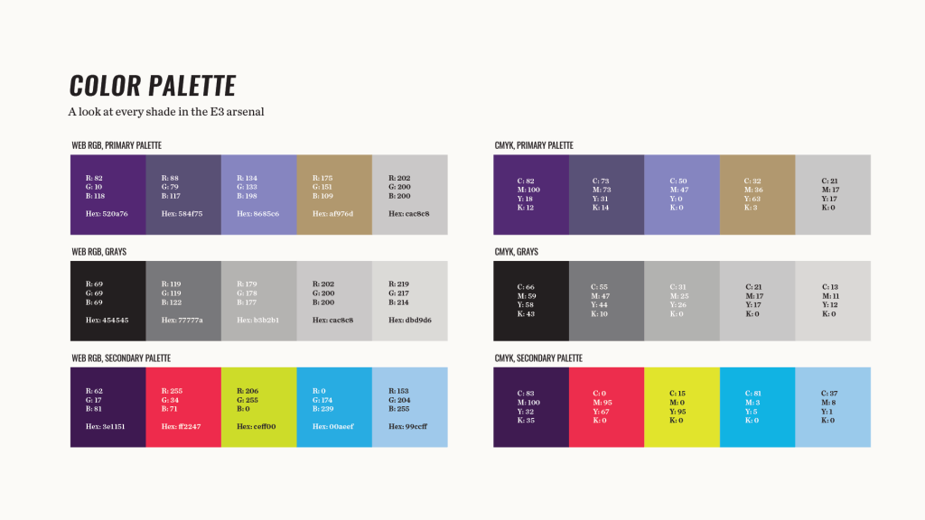 Element Three Color Palette