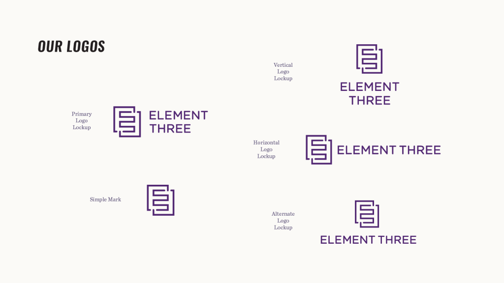 Element Three Logos