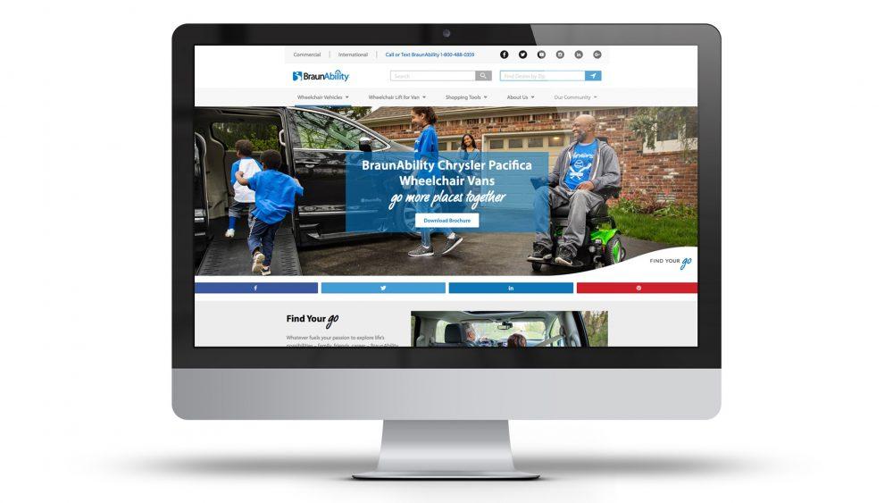 braunability homepage desktop mock up