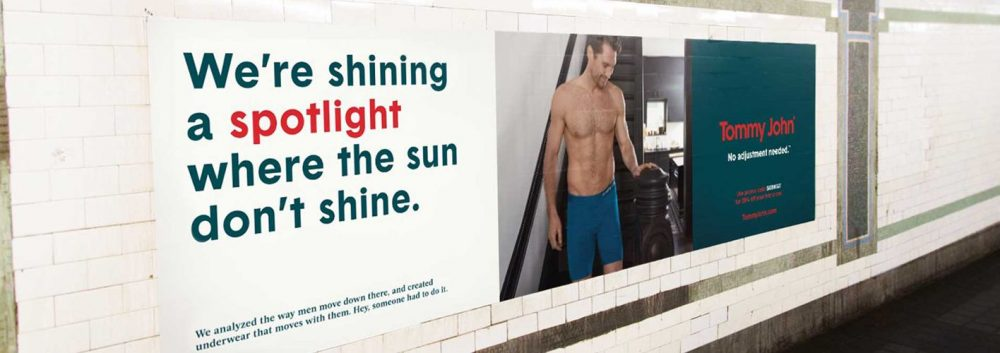 tommy john outdoor advertisement