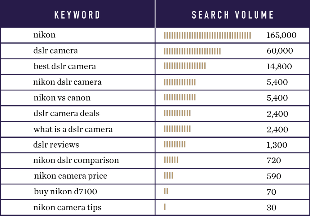 Keyword Search Volume Example