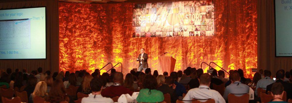Scott Brinker speaking on stage