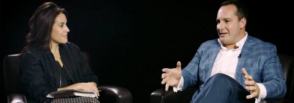 Quinn Ricker talking to Tiffany Sauder