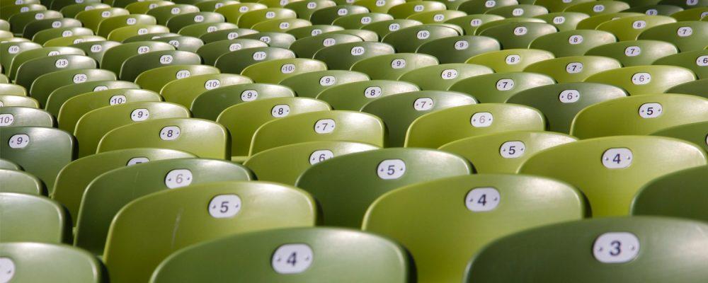 green bleacher seats